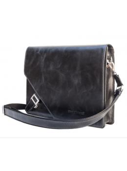 Чёрная каркасная сумка через плечо Black Diamond BD3Aleon