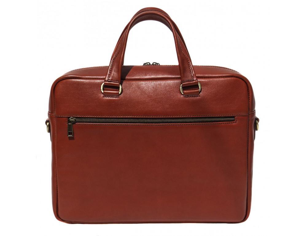 Рыжая мужская кожаная сумка black diamond bd47v1с - Фото № 2