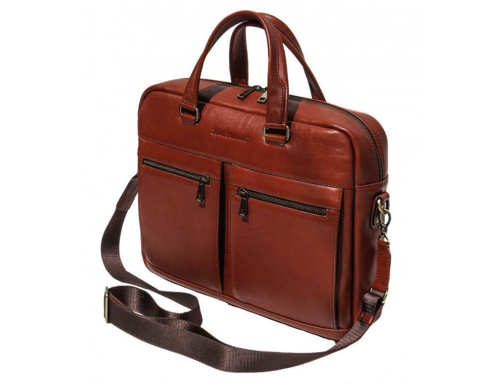 Рыжая мужская кожаная сумка black diamond bd47v1с - Фото № 1