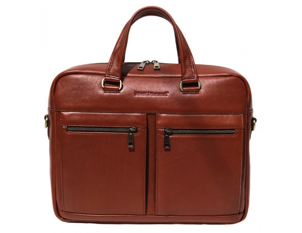 Рыжая мужская кожаная сумка black diamond bd47v1с - Фото № 3