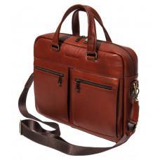 Рыжая мужская кожаная сумка black diamond bd47v1с