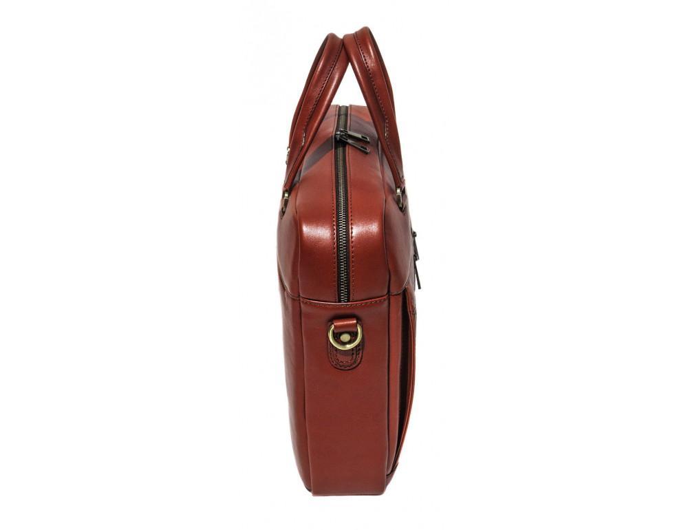 Рыжая мужская кожаная сумка black diamond bd47v1с - Фото № 4