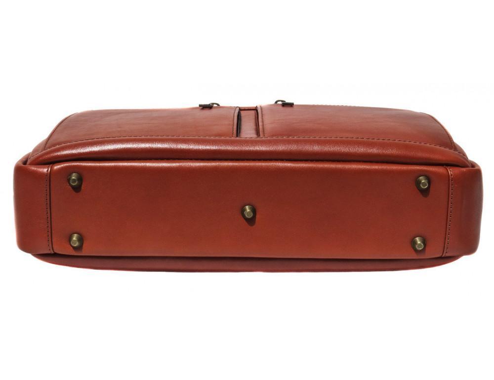 Рыжая мужская кожаная сумка black diamond bd47v1с - Фото № 5