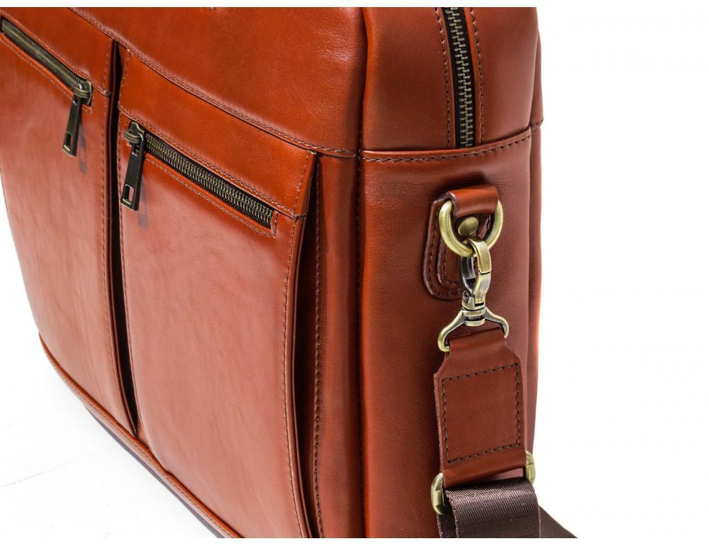 Рыжая мужская кожаная сумка black diamond bd47v1с - Фото № 6