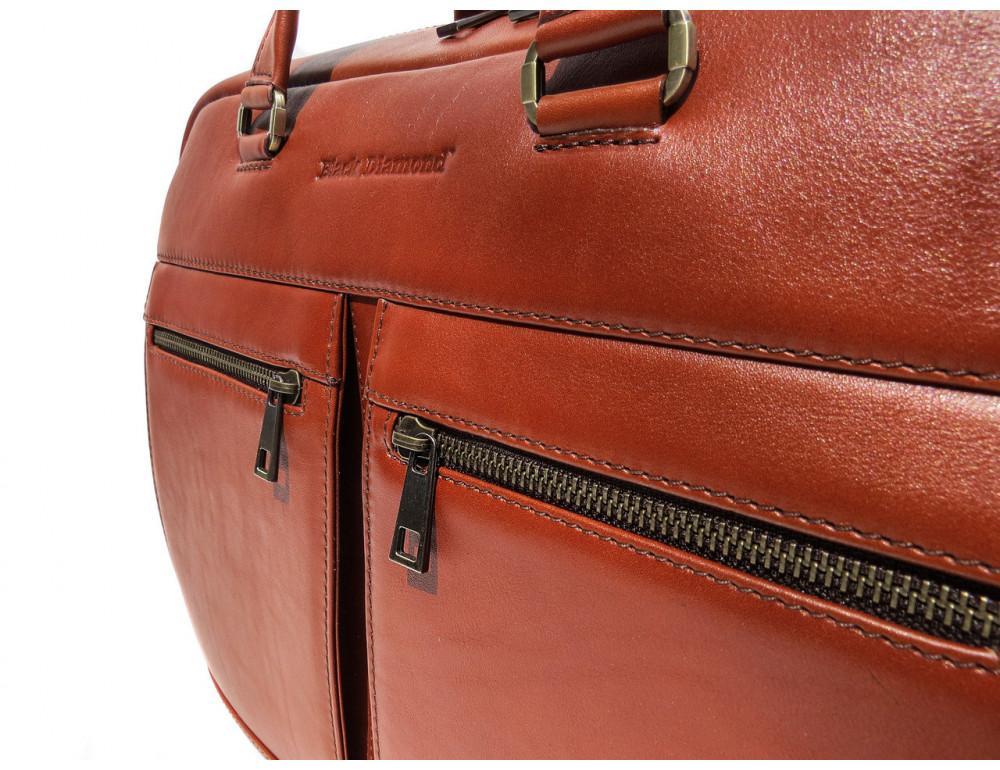 Рыжая мужская кожаная сумка black diamond bd47v1с - Фото № 7