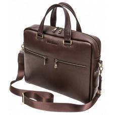 Коричнева шкіряна сумка під ноутбук 15,6 BLACK DIAMOND BD47V3CF