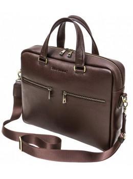 Коричневая кожаная сумка под ноутбук 15,6 BLACK DIAMOND BD47V3CF