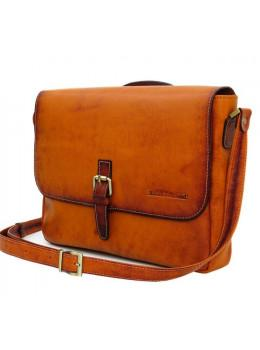 Рыжая кожаная сумка через плечо BLACK DIAMOND BD55CKRAST