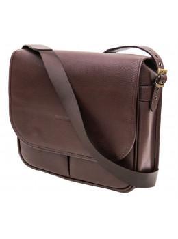 Коричневая кожаная сумка через плечо Black Diamond BD57СF