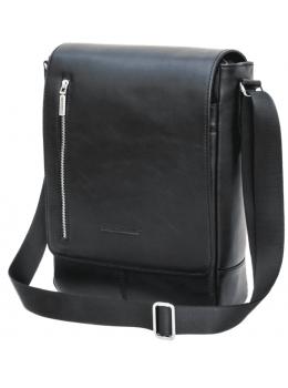 Чёрная мужская сумка через плечо Black Diamond BD62А