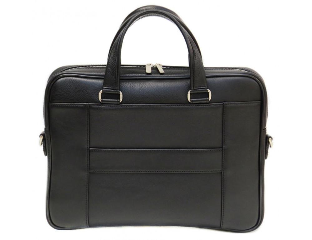 Чорна чоловіча шкіряна сумка Black Diamond BD6A - Фотографія № 2