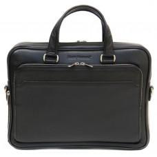 Чёрная мужская кожаная сумка Black Diamond BD6A чёрная
