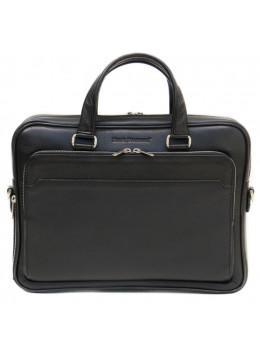 Чорна чоловіча шкіряна сумка Black Diamond BD6A