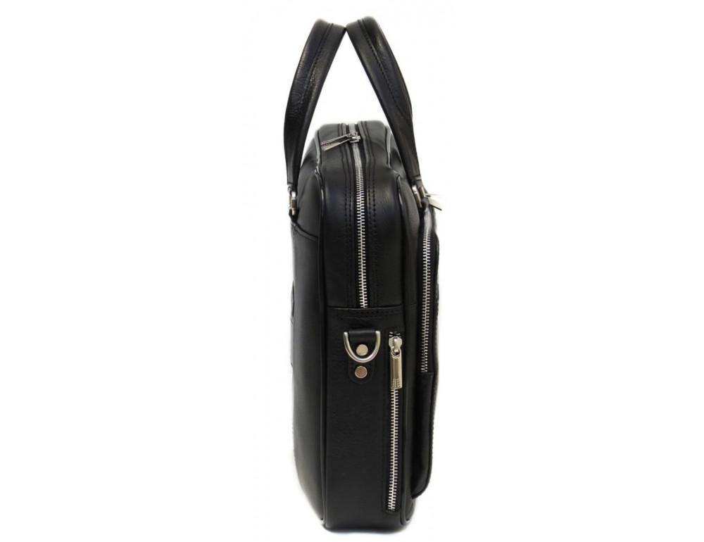 Чорна чоловіча шкіряна сумка Black Diamond BD6A - Фотографія № 4