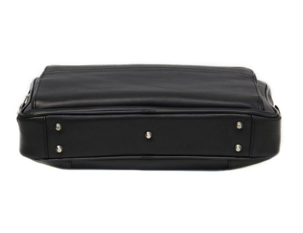 Чорна чоловіча шкіряна сумка Black Diamond BD6A - Фотографія № 5