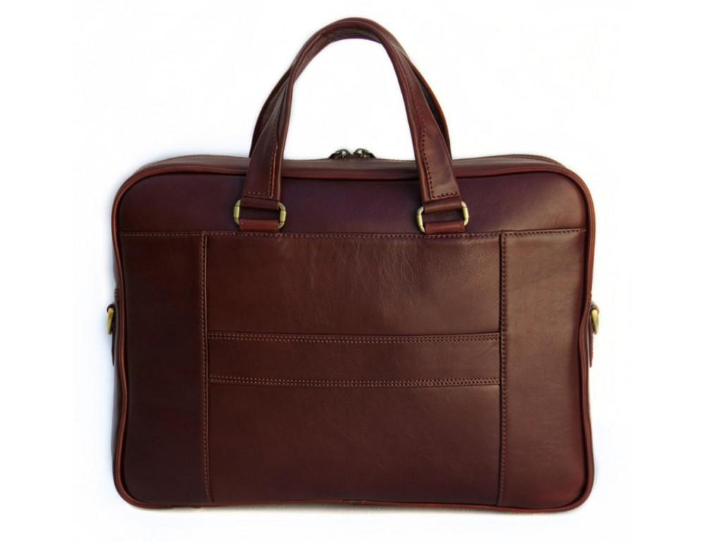 Мужская кожаная сумка Black Diamond BD6C коричневый - Фото № 2