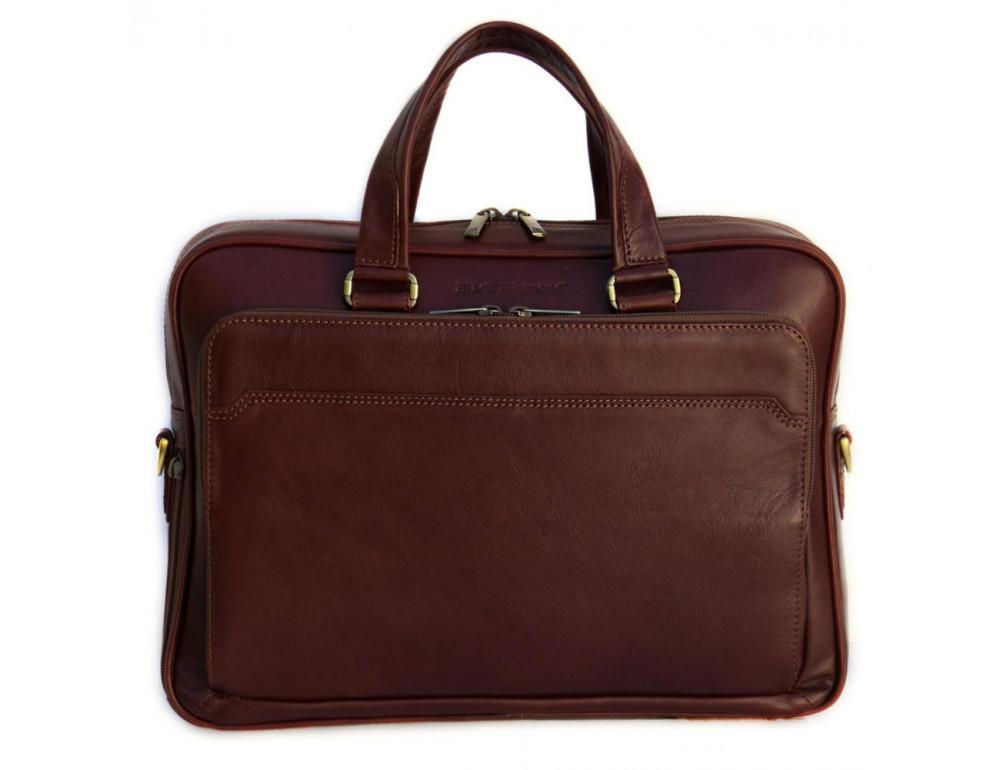 Мужская кожаная сумка Black Diamond BD6C коричневый - Фото № 1