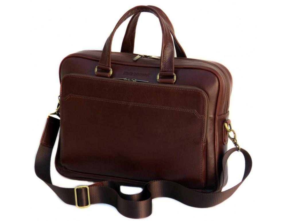 Мужская кожаная сумка Black Diamond BD6C коричневый - Фото № 3