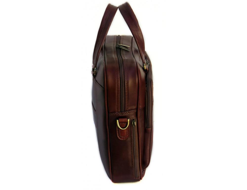 Мужская кожаная сумка Black Diamond BD6C коричневый - Фото № 4