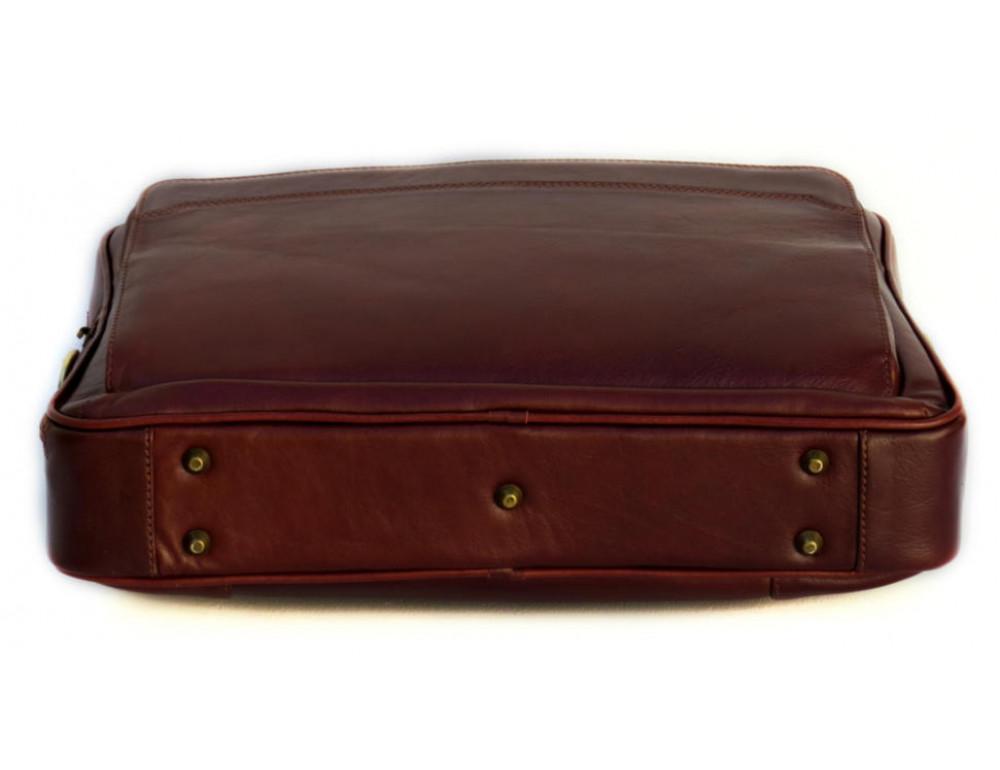 Мужская кожаная сумка Black Diamond BD6C коричневый - Фото № 5