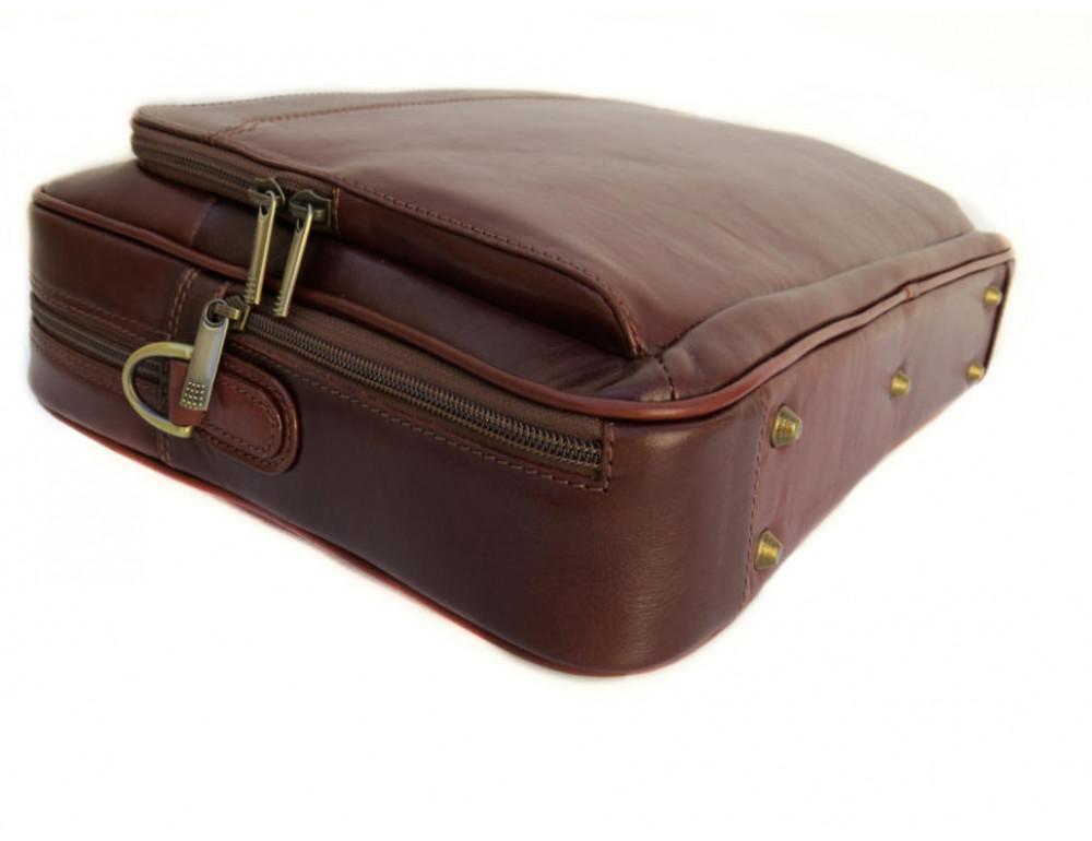 Мужская кожаная сумка Black Diamond BD6C коричневый - Фото № 6