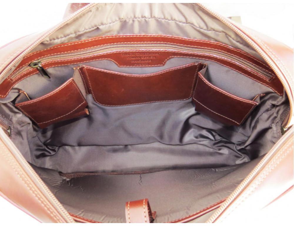 Мужская кожаная сумка Black Diamond BD6C коричневый - Фото № 7