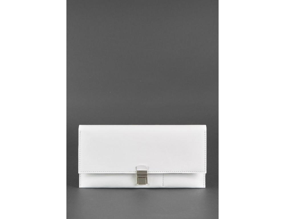 Белый кожаный травел-кейс под документы Blanknote BN-TK-2-LIGHT - Фото № 1