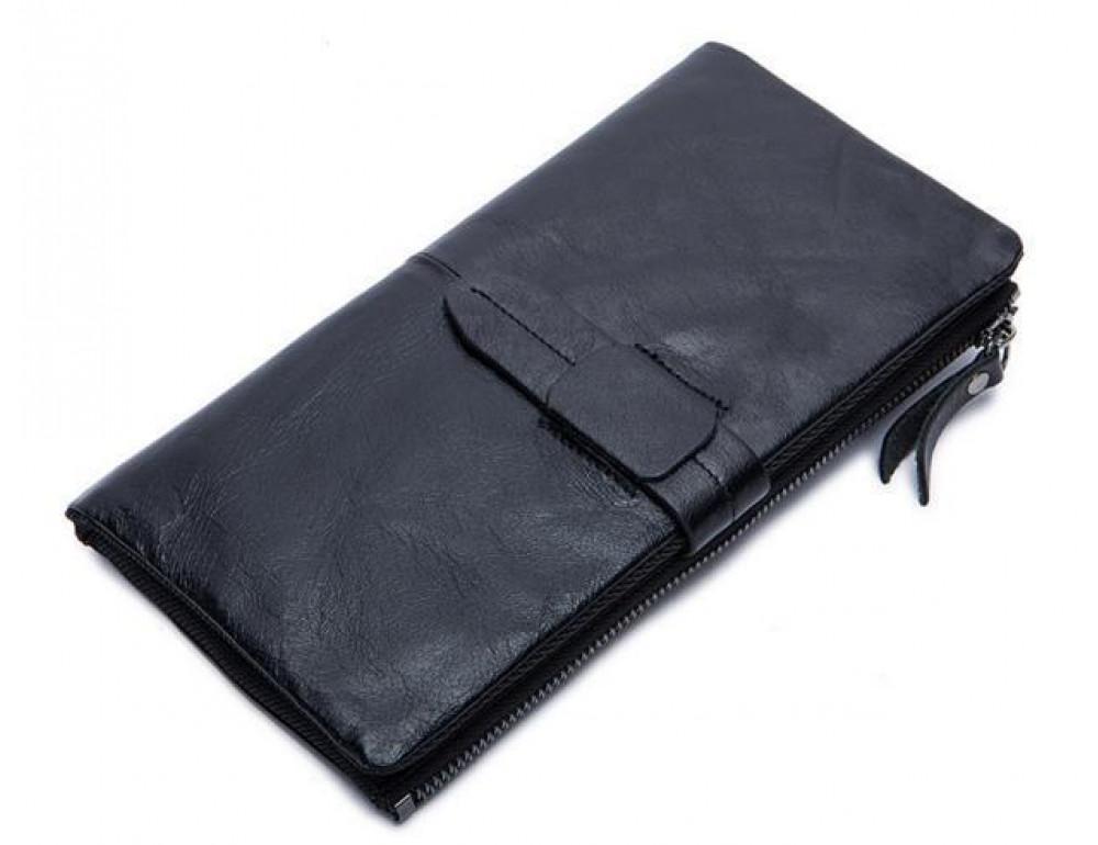 Чоловічий шкіряний портмоне Bexhill BX8839A чорний - Фотографія № 1