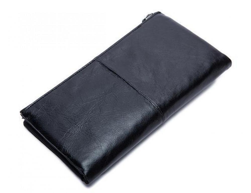 Чоловічий шкіряний портмоне Bexhill BX8839A чорний - Фотографія № 4