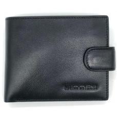 Чёрный кожаный портмоне Marco Coverna BK003-801A Black