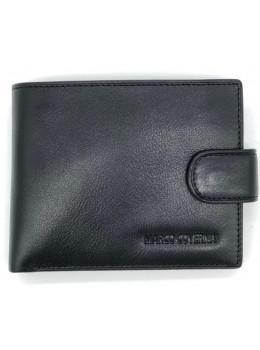 Чёрный кожаный портмоне Marco Coverna BK010-801A Black