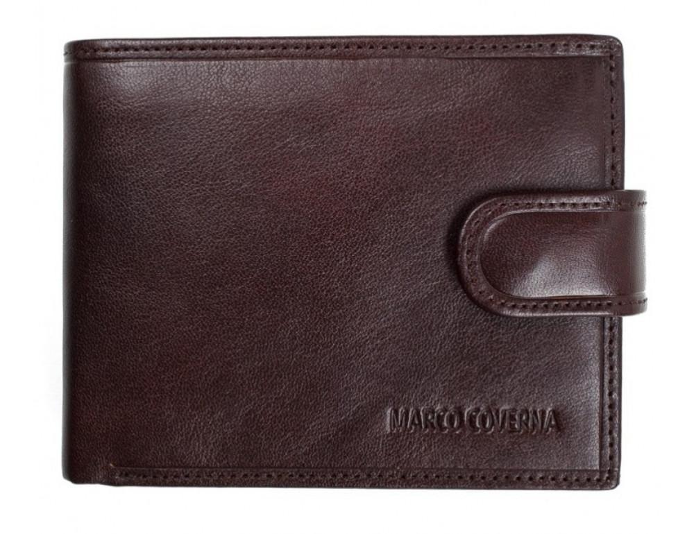 Коричневый кожаный кошелёк на защелке Marco Coverna B047-896C - Фото № 1