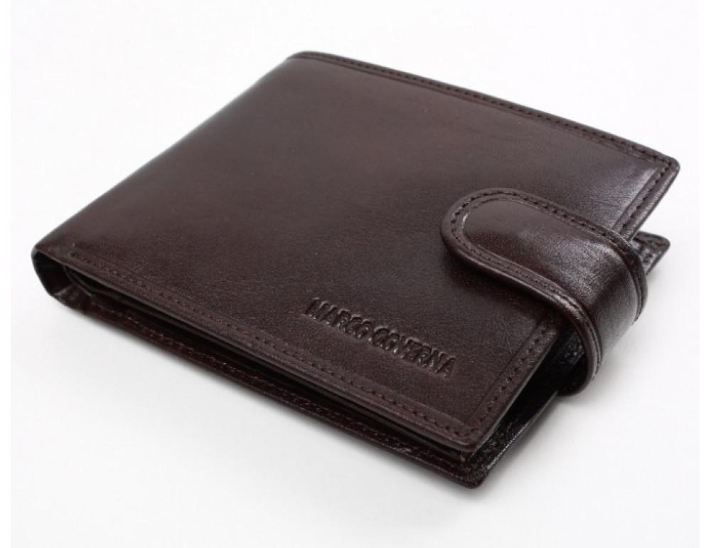 Коричневый кожаный кошелёк на защелке Marco Coverna B047-896C - Фото № 5