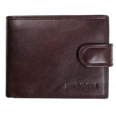 Коричневый кожаный кошелёк на защелке Marco Coverna B047-896C