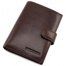 Коричневый кожаный портмоне под паспорт Marco Coverna B047-808C