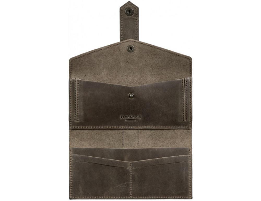 Кожаный кошелек из лошадиной кожи Blanknote BN-PM-3-O - Фото № 3