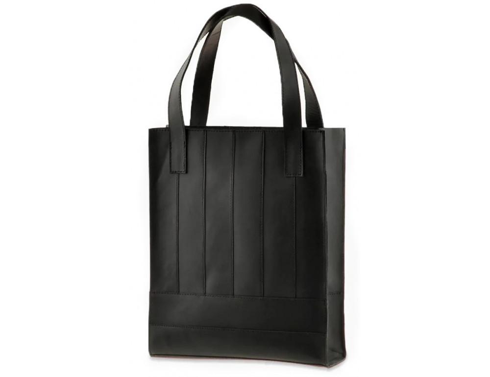 Чорна шкіряна сумка шоппер Blanknote BN-BAG-10-G-KR - Фотографія № 3