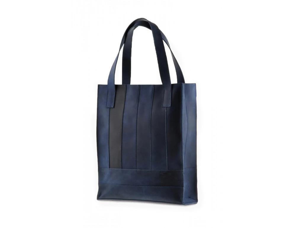 Кожаная женская сумка Blanknote bn-bag-10-nn синяя - Фото № 3
