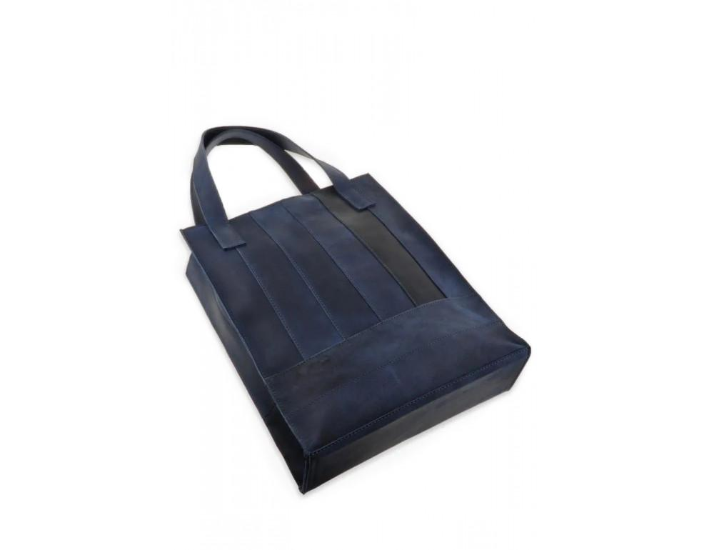 Кожаная женская сумка Blanknote bn-bag-10-nn синяя - Фото № 4