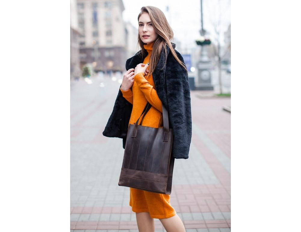 Тёмно-коричневая женская сумка Шоппер Blanknote BN-BAG-10-o  - Фото № 2