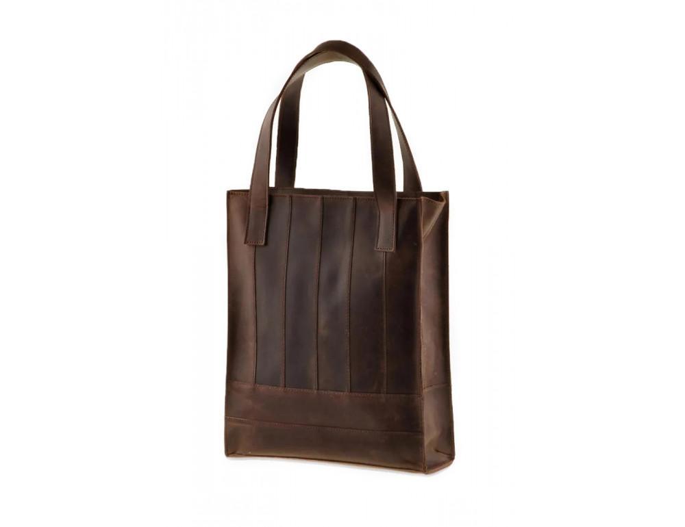 Тёмно-коричневая женская сумка Шоппер Blanknote BN-BAG-10-o  - Фото № 3