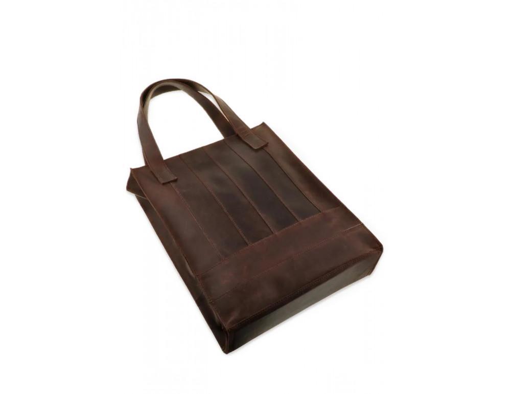 Тёмно-коричневая женская сумка Шоппер Blanknote BN-BAG-10-o  - Фото № 4