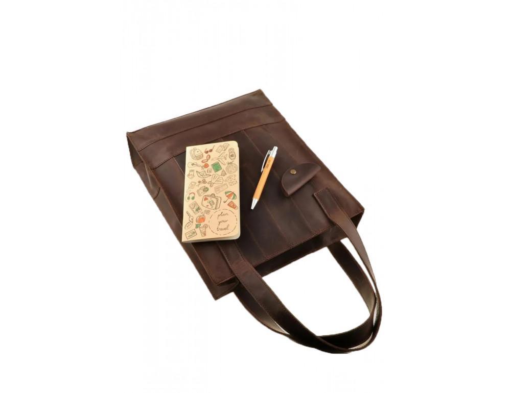 Тёмно-коричневая женская сумка Шоппер Blanknote BN-BAG-10-o  - Фото № 5