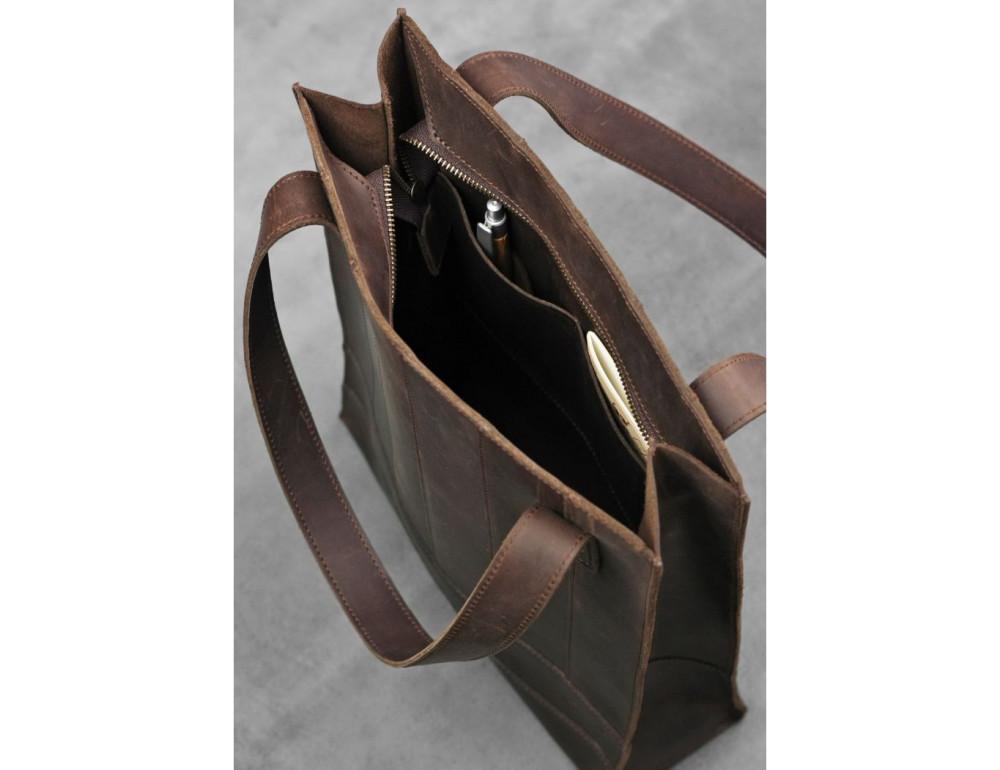Тёмно-коричневая женская сумка Шоппер Blanknote BN-BAG-10-o  - Фото № 6