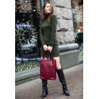 Женская кожаная сумка Blanknote bn-bag-10-vin виноградовая - Фото № 101