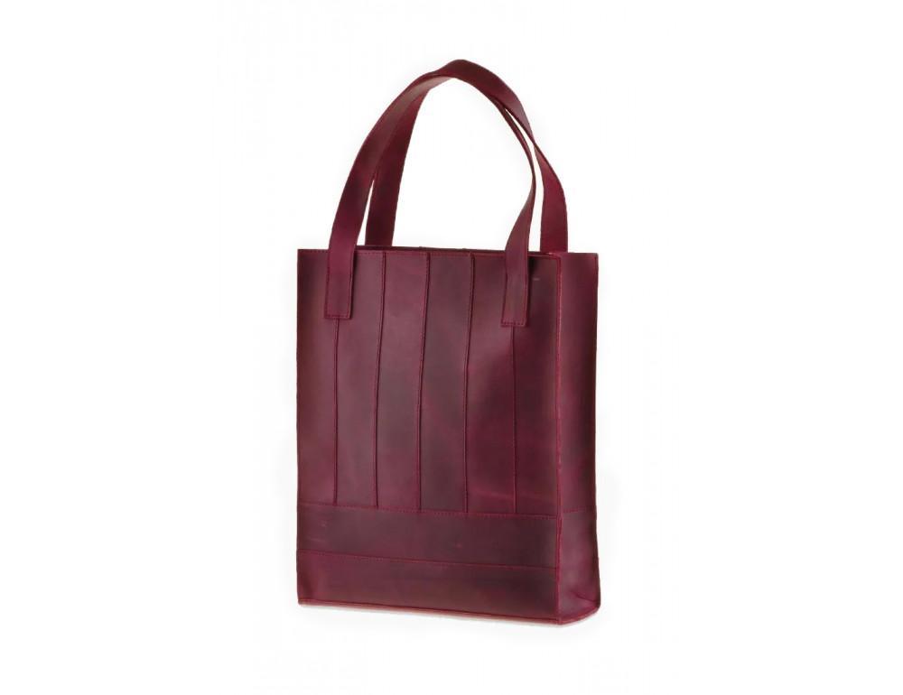 Женская кожаная сумка Blanknote bn-bag-10-vin виноградовая - Фото № 3