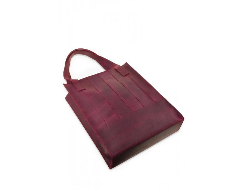 Женская кожаная сумка Blanknote bn-bag-10-vin виноградовая - Фото № 4