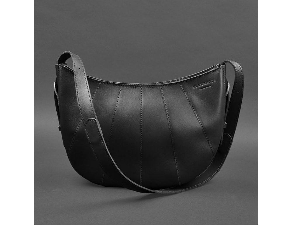 Чёрная полукруглая сумка женская Blancnote BN-BAG-12-G-KR - Фото № 1