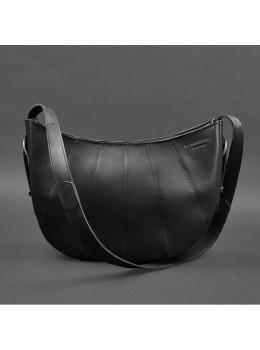 Чёрная полукруглая сумка женская Blancnote BN-BAG-12-G-KR