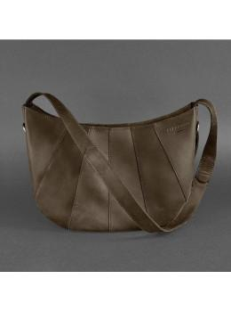 Тёмно-коричневая женская кожаная сумка через плечо Blancnote BN-BAG-12-O